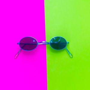 Vintage 90s oval sunglasses John Lennon 60s style